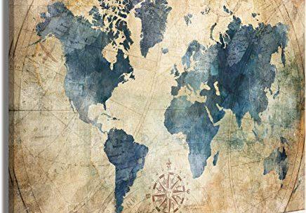 La map monde, un équipement décoratif créant un univers unique dans la pièce où elle est installé